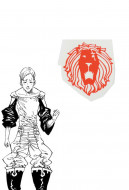 The Seven Deadly Sins Escanor Cosplay Tattoo Sticker