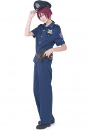 Free! Iwatobi Swim Club Rin Matsuoka Police Cosplay Costume