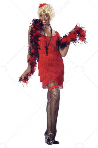 Fashion Flapper Red Adult Costume