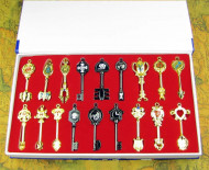 Fairy tail star spirit key pendant set