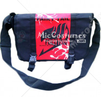 Fairy Tail Red Print Black Shoulder Bag