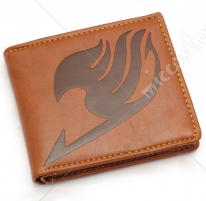 Fairy Tail Bifold Leather Wallet Brown