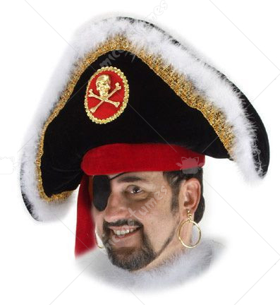 Fancy Pirate Captain Hat