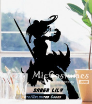 Fate Unlimited Codes Saber Lily Wall Sticker