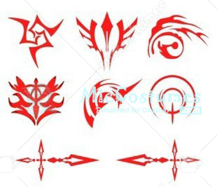 Fate Zero Curse Cosplay Tattoo Sticker