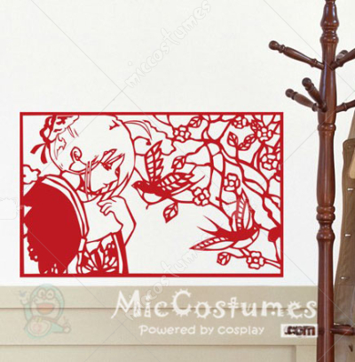 Fate Zero Saber Red Wall Sticker