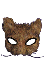 Feather Cat Mask Natural