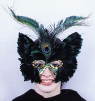 Feather Peacock Butterfly Mask