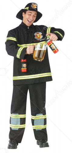 Filler Up Fireman Plus Size Adult Costume