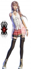 Final Fantasy Serah Cosplay Tatoo Sticker