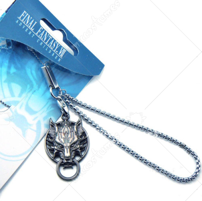 Final Fantasy Wolf Head Phone Chain