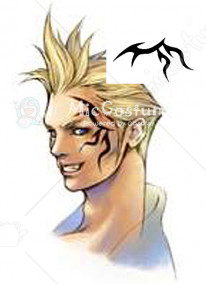 Final Fantasy Zell Dincht Cosplay Tattoo Sticker