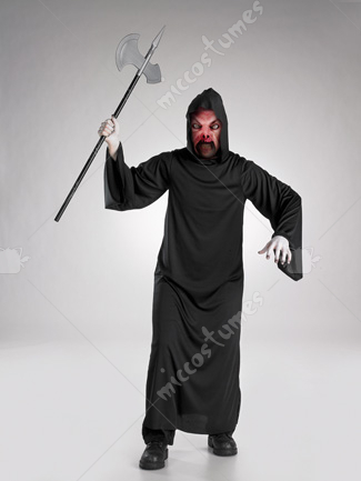 Fire Demon Mask Robe Costume