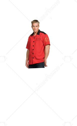 Fireman Shirt Extra Large Adult Costume
