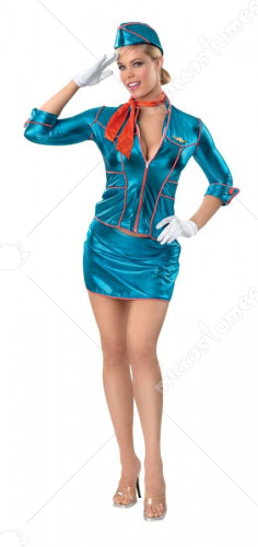 Flight Attendant Stewardess Adult Costume