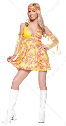 Hippie Flower Child Girls Costume