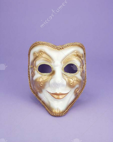 Full face venetian mask WT/GD