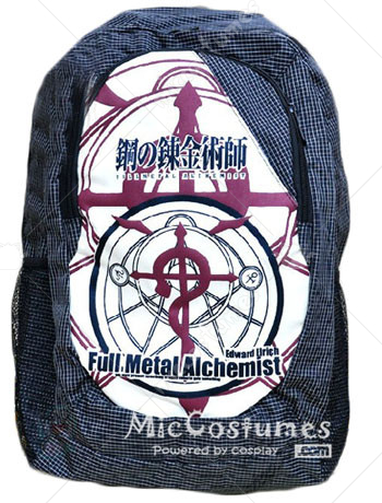 Fullmetal Alchemists Tartan Design School Bag