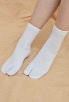 Japanese Bleach Demon Slayer Kimetsu no Yaiba Tabi Geta Cosplay Two Toe Socks