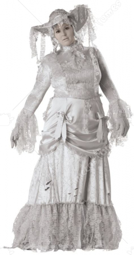 Ghostly Lady Adult Plus Costume