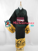 Gintama Gintoki Sakata Black Cosplay Costume