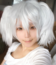 Gintama Gintoki Sakata in Women Dress Bako Cosplay Wig