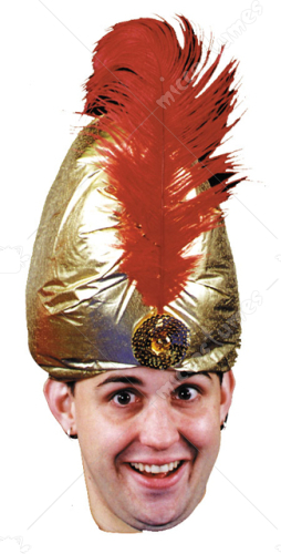 Deluxe Turban With Plume