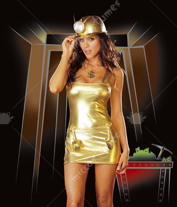 Gold Digger Adult Costume
