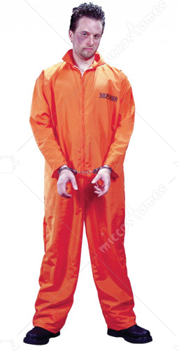 Got Busted Jumpsuit Orange Adult Costume