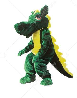 Green Acrylic Faux Dragon Mascot Costume