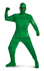 Green Army Man Deluxe Plus Size Adult Costume