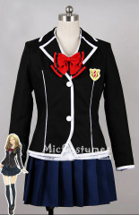 Guilty Crown Arisa Kuhouin Tennouzu Girls Black School Uniform