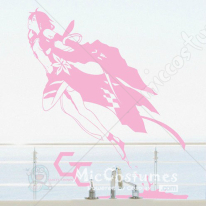 Guilty Crown Inori Yuzuriha Pink Wall Sticker