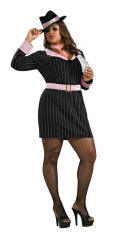 Gun Moll Gangster Adult Plus Costume
