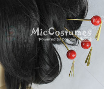 Hair Clip For Gintama Kagura Cosplay
