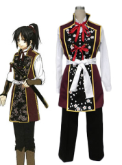 Hakuoki Chisturu Yukimura Red and Black Cosplay Costume