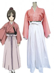 Hakuouki Chisturu Yukimura Red and White Cosplay Costume