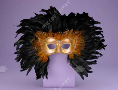 Half Style Feather Mask
