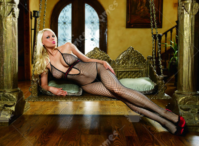 Halter Bodystocking with Ribbon