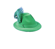 Alpine Grn Hat With feather