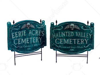 Haunted Valley Cemetery Lawn Sign