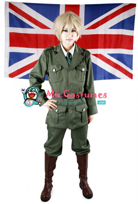 Hetalia Axis Powers England Cosplay Costume
