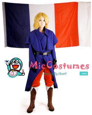 Hetalia Axis Powers France Cosplay Costume