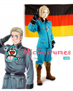 Hetalia Axis Powers Germany Blue Cosplay Costume