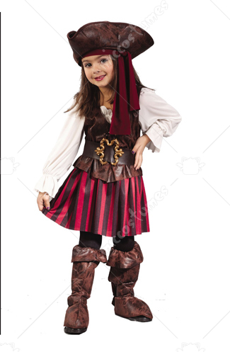 High Seas Pirate Toddler Girl Costume
