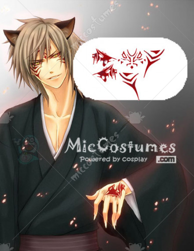 Hiiro no Kakera Ryou Kutani Cosplay Tatoo Sticker