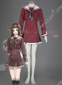 Hiiro no Kakera Women Winter School Uniform Cosplay Costume