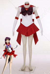 Sailor Moon Hino Rei Sailor Mars Cosplay Costume SuperS Version