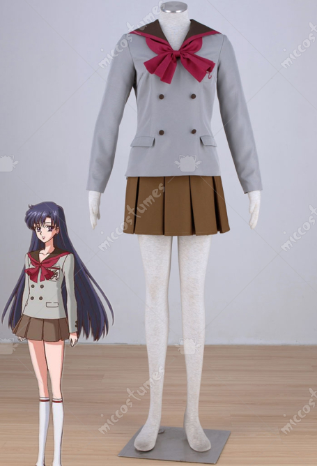 Sailor Moon Hino Rei Cosplay School Uniform