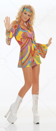Hippie Dress Sexy Adult Costume